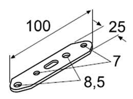 Metal plate with holes Webasto 10pcs 9007918 / 9007918A