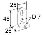 Webasto perforated angle 90 ° galvanized 1320232/9000802