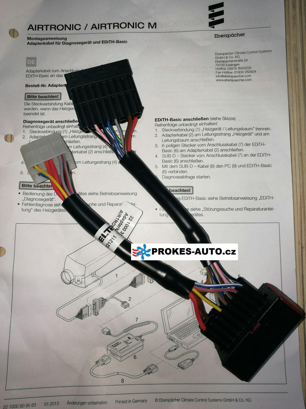 Airtronic heater diagnostic cable D2 / D4 / 221000318600 Eberspächer