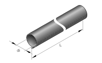 Insulation protection on exhaust pipe 24mm 0,5m