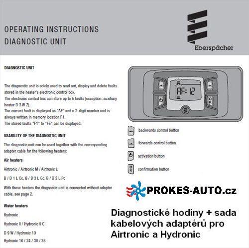 Eberspacher Diagnostics H2 22154589 diagnostic clock + cable set Eberspächer