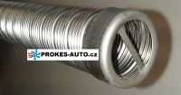 24mm Exhaust flexible pipe 24x2 INOX with end 1m