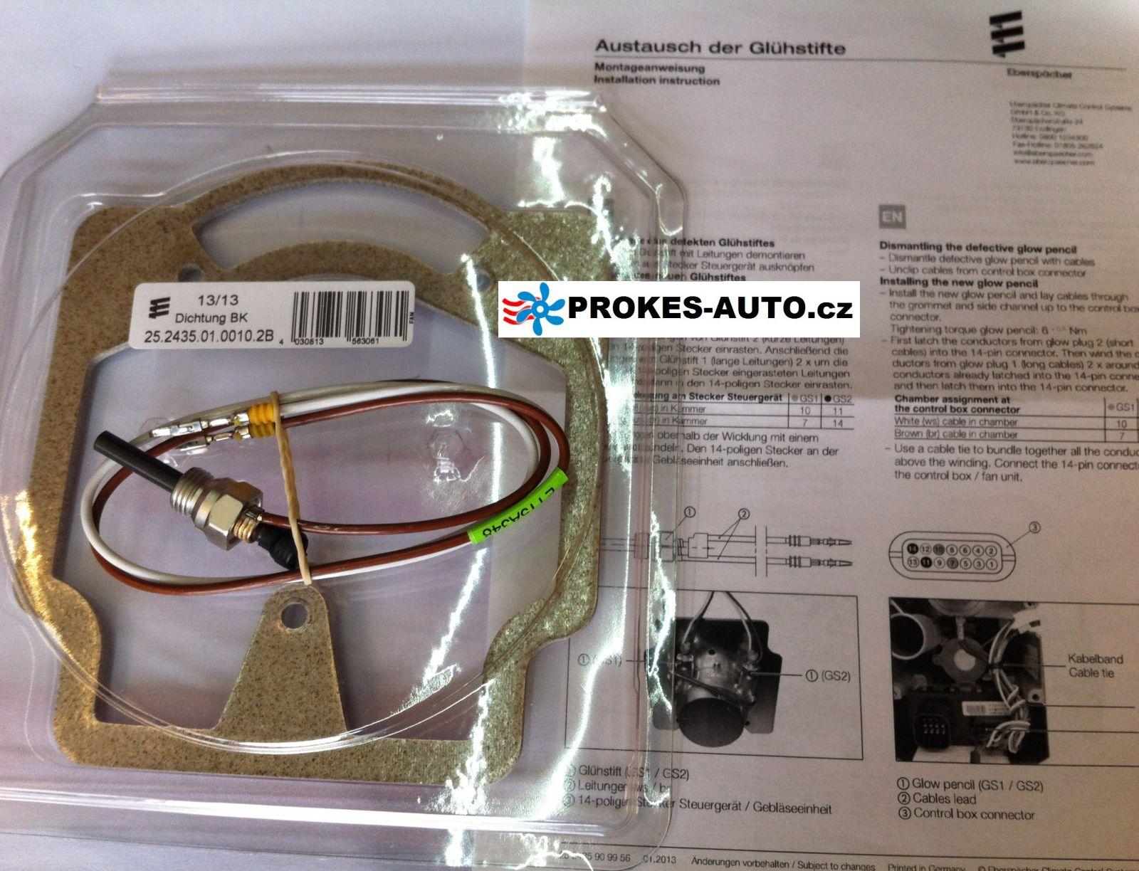 Glow Pin & Gasket 12V Hydronic M-II M8 / 10 / 12 - 252434010100 Eberspächer