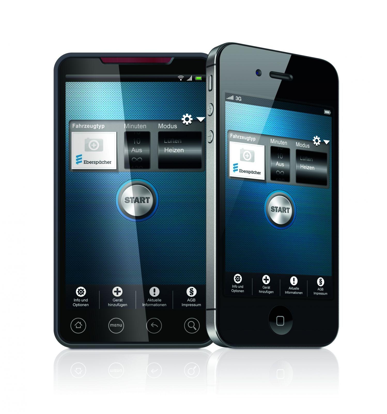 EasyStart call telephone remote control 221000340100 Eberspächer