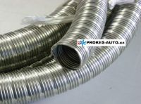 38mm Exhaust flexible hose 38x2 INOX stainless steel