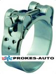 Robust jaw clamp for exhaust hose 30mm