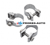 Pipe clamp vor Exhaust pipe 22mm and absorber set 3pcs 24-26mm