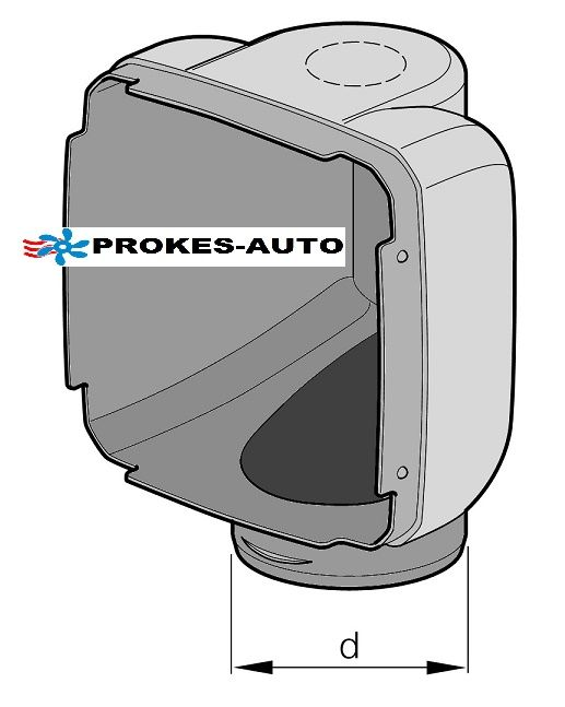 Outlet Hood 90° D90mm for Heating D3LC a D3LC Compact 221000010003 Eberspächer