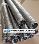 24mm Exhaust flexible pipe 24x2 INOX with end 1m 251774800200