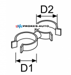 Hose and cable holder d22-24 / d22-24 (set of 5 pcs)