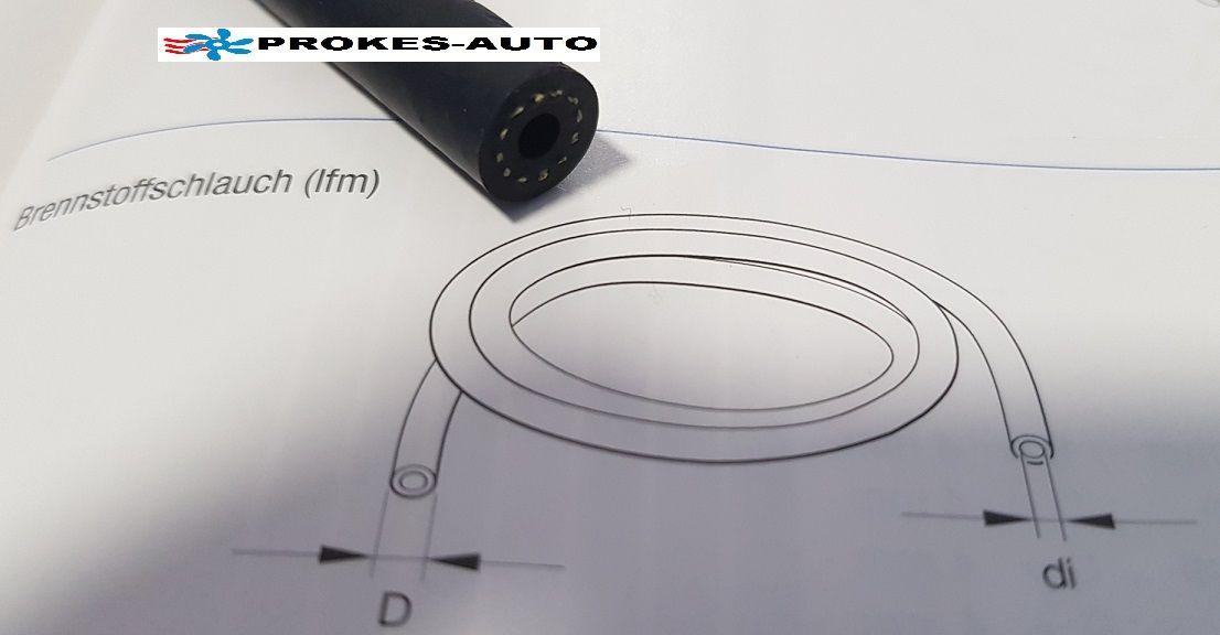 Fuel hose D9,5mm / di3,5mm / 1m Eberspächer