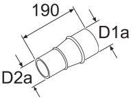 Reduzierstück 80/60mm 252565 / 1319312 Webasto
