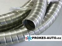 Exhaust pipe flexible 24x2 INOX Stainless Steel D75cm