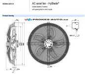 EBM PAPST suction fan 800 mm 400V 6 poles S6D800-AD01-01