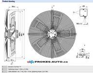 EBM PAPST suction fan 910 mm 400V 8 poles S8D910-CD01-01