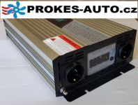 Voltage converter / Power Inverter 2000W pure sine wave LCD display