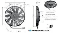 Axial push Fans Ø 255mm 24V