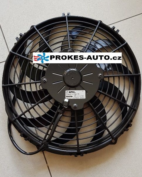 SPAL Axial suction fan with brush motor 24V 280mm VA09-BP12/C-54A