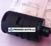 Intake silencer L 90mm for 25mm hose