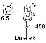 Fuel standpipe 90 degrees D5, thread M6 98605 / 1322632 Webasto