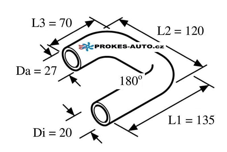 Shaped water hose 180° 20mm 135/70/120 / 98452 Webasto