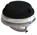 Roof / wall fan MaxxAir Maxxfan Dome Plus 12V, black, with LED lighting