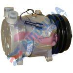 HARRISON UNI compressor V5 / 12V pulley 132mm 2GA connection Rotalock Vertical