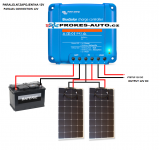 Set of flexible solar panels 2 x 110W / 12 or 24V incl. controller with bluetooth connection Skyled