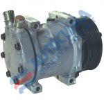 SANDEN compressor SD7H13 MD 12V pulley 119mm PV8 OR Vertical