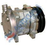 UNI compressor 12V SANDEN 5H09 model 5072 pulley 125mm 2GA connection OR Vertical