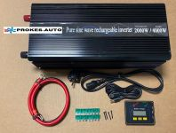 Voltage converter 2000W pure sine wave power inverter with charger